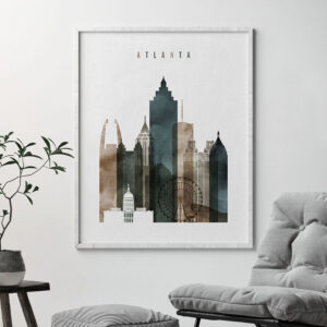 Atlanta art print watercolor 2 second