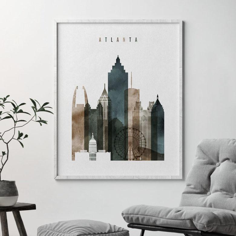 Atlanta art print watercolor 2 second