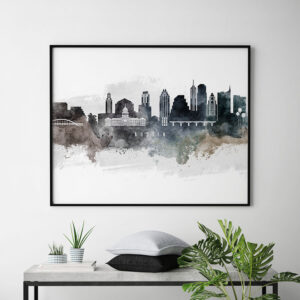 Austin art print watercolor second