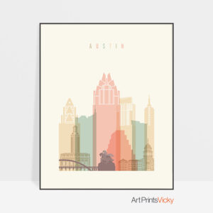 Austin wall art pastel cream