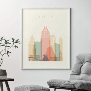 Austin wall art pastel cream second