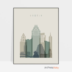 Austin print skyline earth tones 1