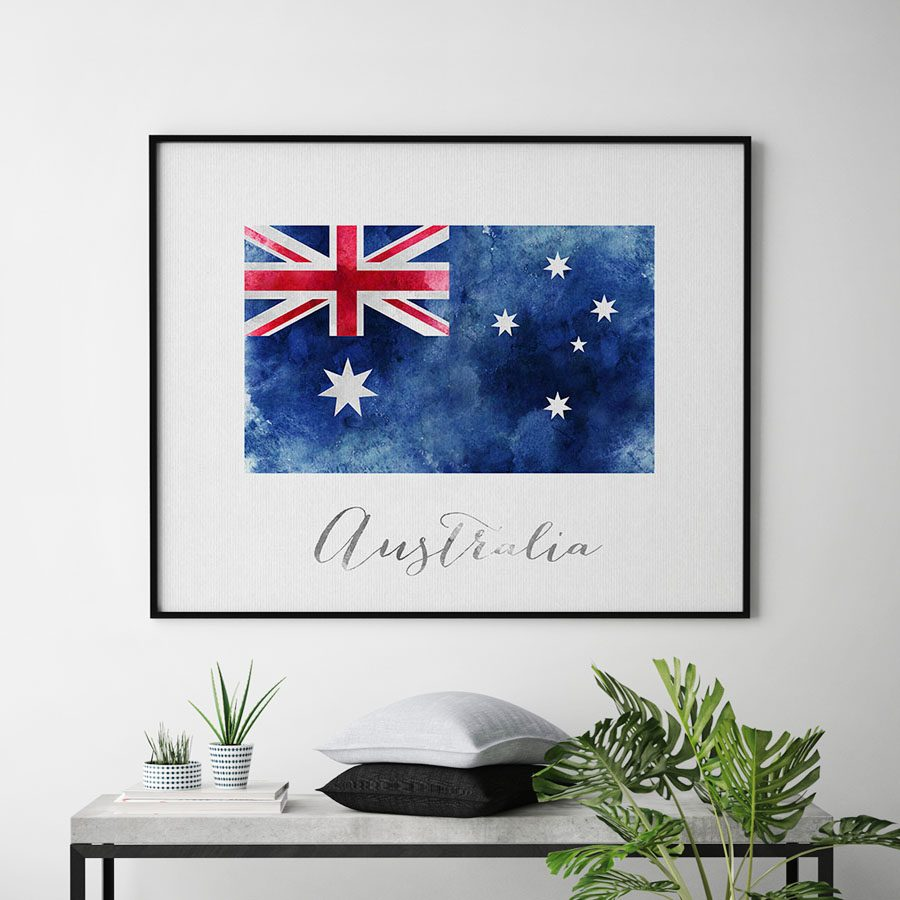 Australia flag art print second