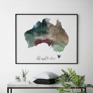 Australia map print second