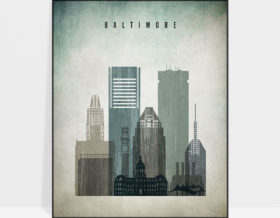 Baltimore poster distressed 3