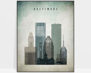 Baltimore poster distressed 3