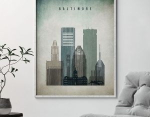Baltimore poster distressed 3 second