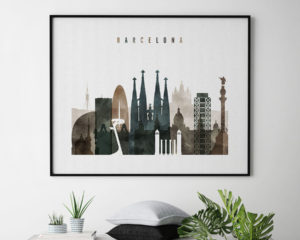 Barcelona art print watercolor 2 second