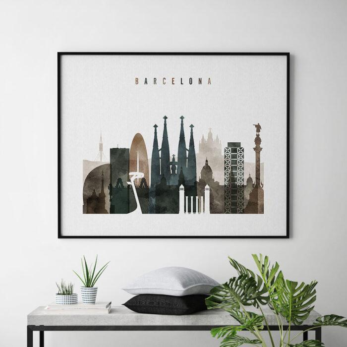 Barcelona art print watercolor 2 second