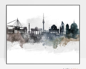Berlin art poster watercolor