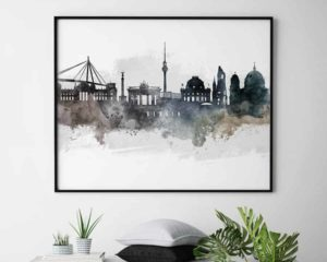 Berlin art poster watercolor second
