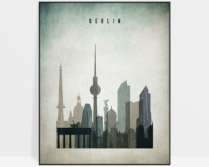 Berlin poster distressed 3
