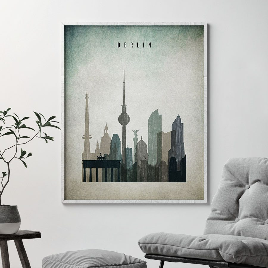Berlin poster distressed 3 second