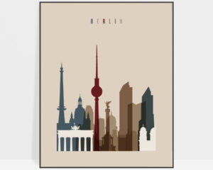 Berlin art poster earth tones 2