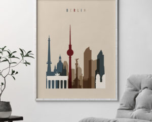 Berlin art poster earth tones 2 second