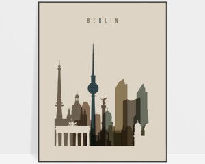 Berlin art print earth tones 3