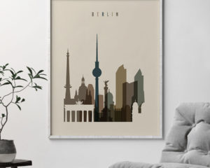 Berlin art print earth tones 3 second