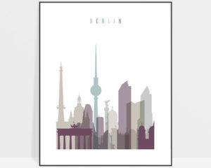 Berlin print skyline pastel 2
