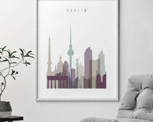 Berlin print skyline pastel 2 second