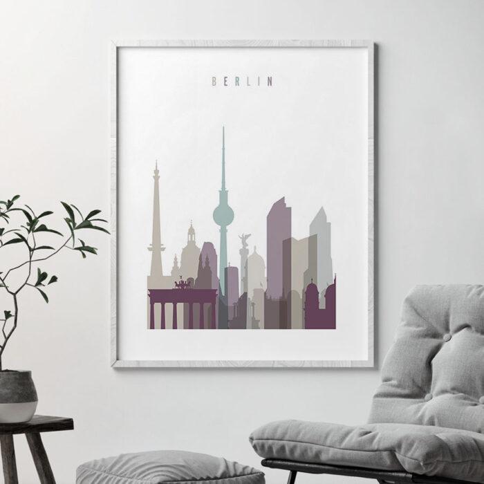 Berlin print skyline pastel 2 second