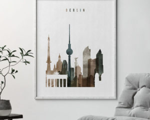 Berlin skyline poster watercolor 2 second