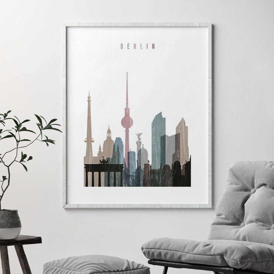 Berlin skyline poster distressed 1 second