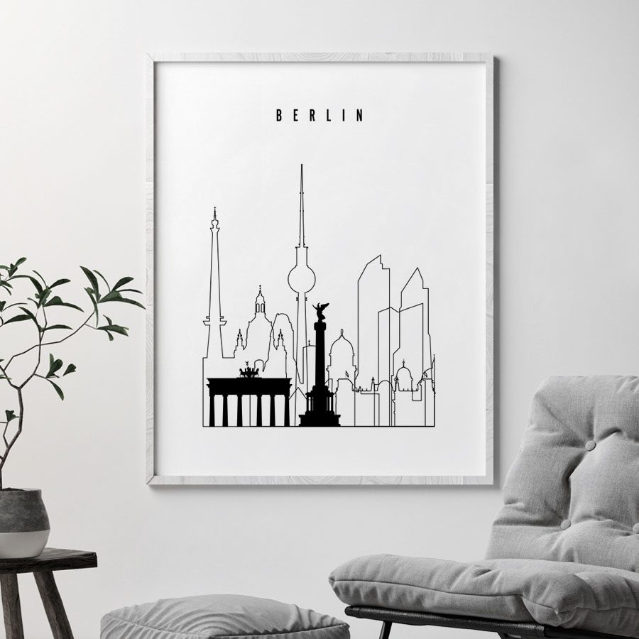 Berlin black and white art print second