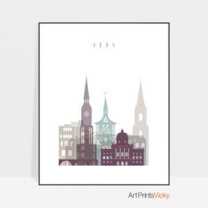 Bern print skyline pastel 2