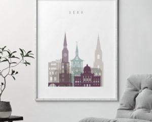 Bern print skyline pastel 2 second
