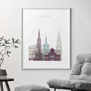 Bern print skyline pastel 2 second