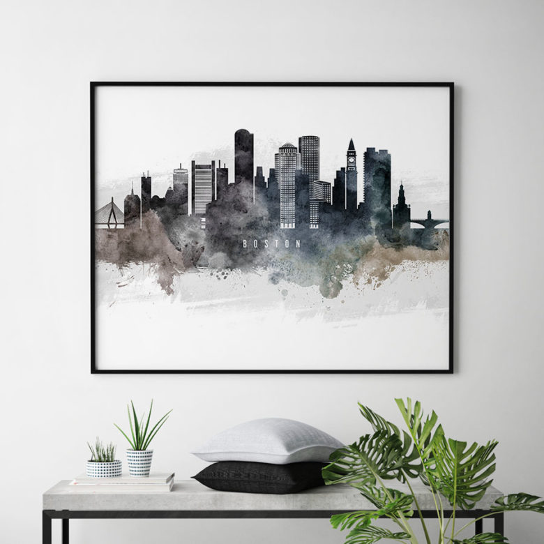 Boston art poster watercolor second