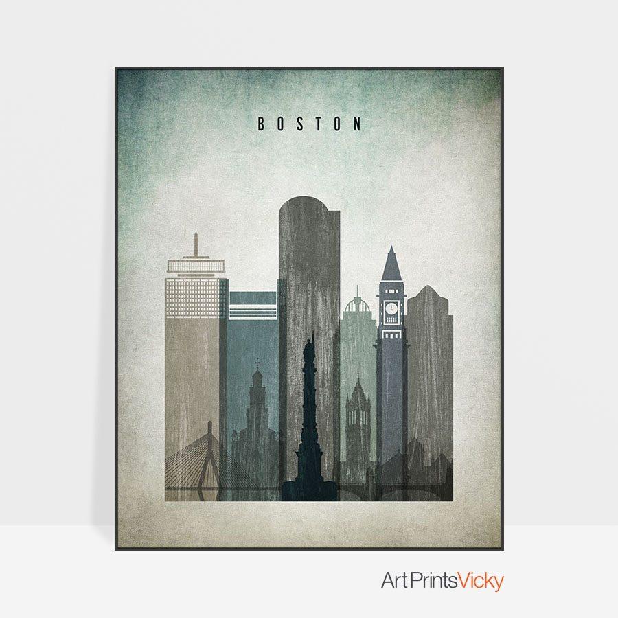 Boston poster distressed 3