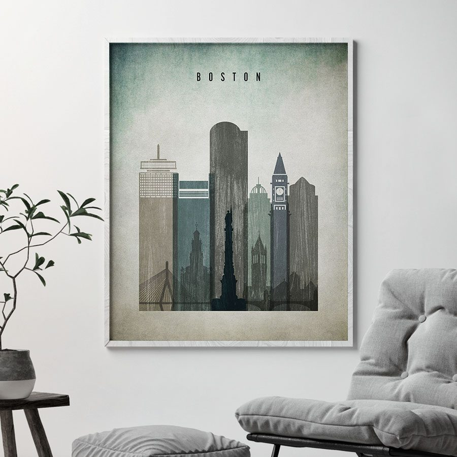 Boston poster distressed 3 second