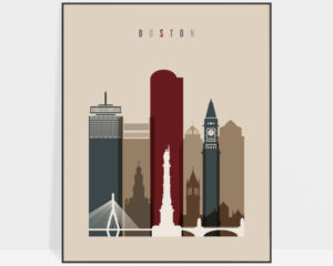 Boston poster earth tones 2