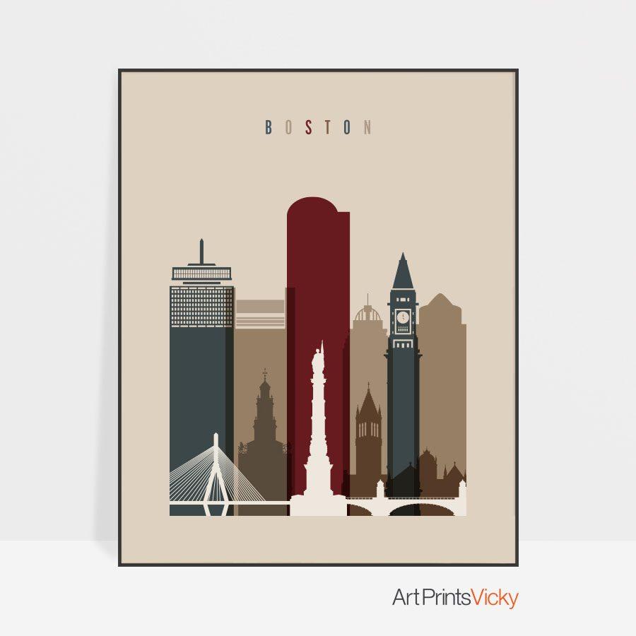 Boston poster earth tones 2