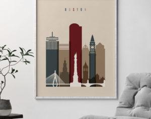 Boston poster earth tones 2 second