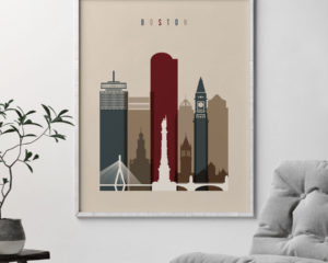 Boston poster earth tones 2 second