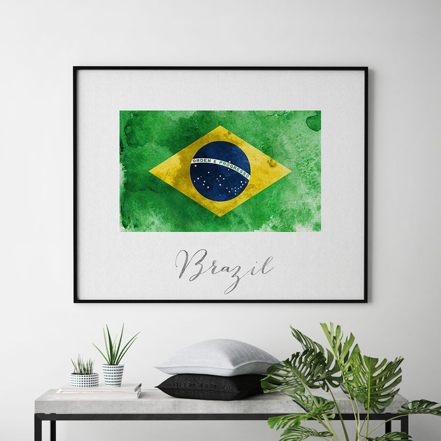 Brazil flag art print second