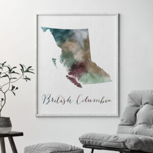 British Columbia map print second
