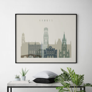 Bruges print earth tones 1 landscape second