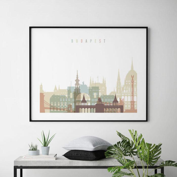 Budapest print pastel white landscape second