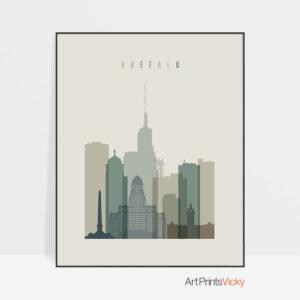 Buffalo print skyline earth tones 1