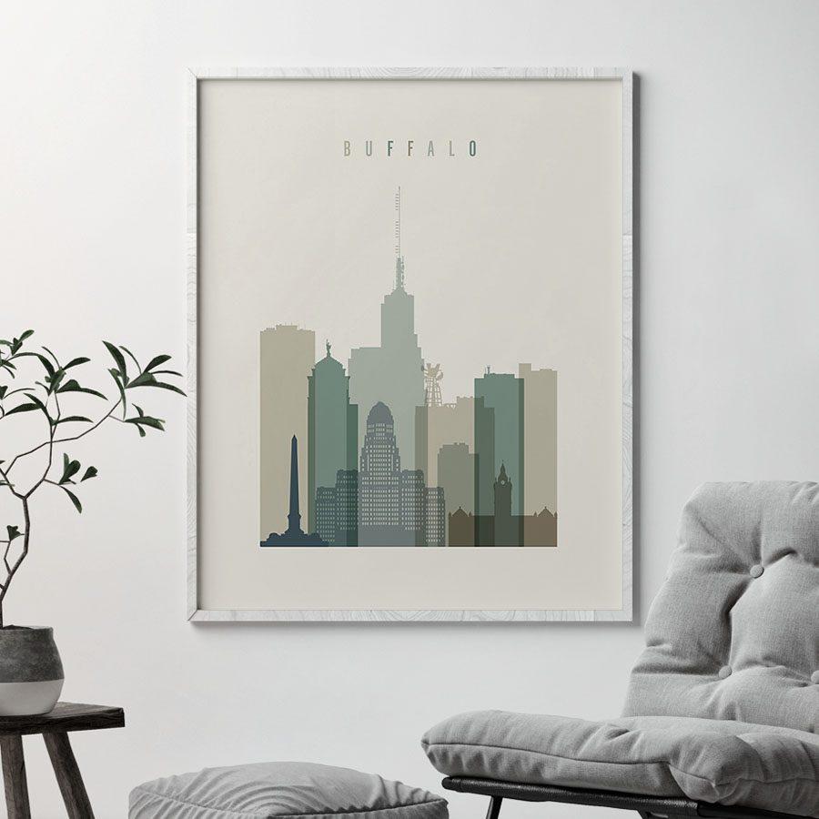 Buffalo print skyline earth tones 1 second