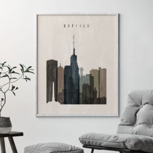 buffalo skyline print distressed 2 second photo at artprintsvicky.com