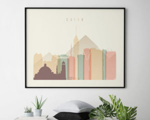 Cairo poster skyline pastel cream landscape second