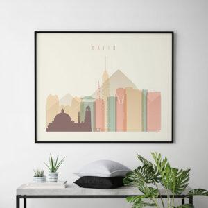 Cairo poster skyline pastel cream landscape second