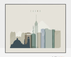 Cairo print earth tones 1 landscape