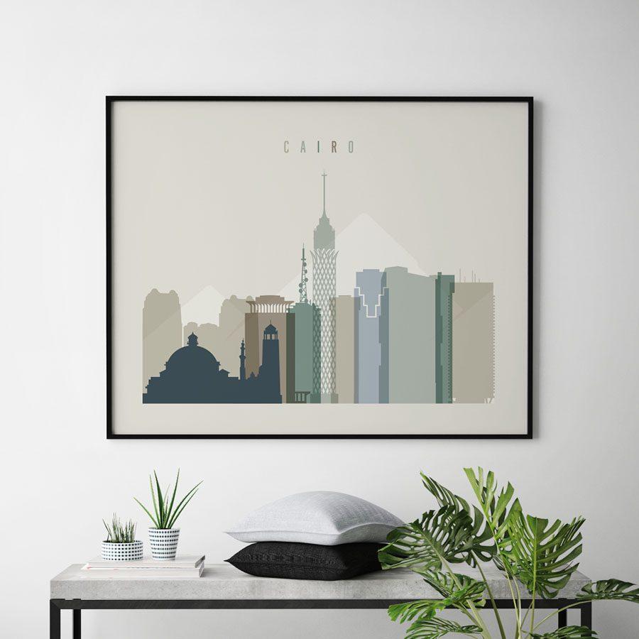 Cairo print earth tones 1 landscape second