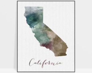 California State map print