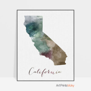 California State map print